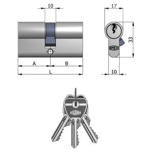 Cilindro sagomato chiave unica