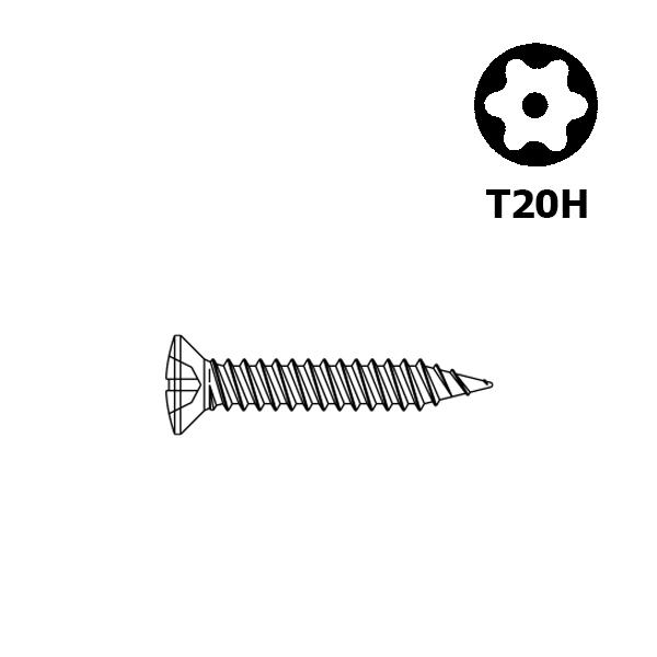 Vite autofilettante nera per persiana in alluminio T20H