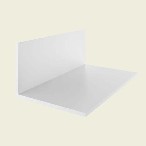 Profilo PVC angolare con rivestimento esterno creme-weiss