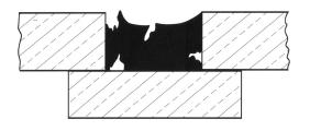 Adesione silicone su 3 lati