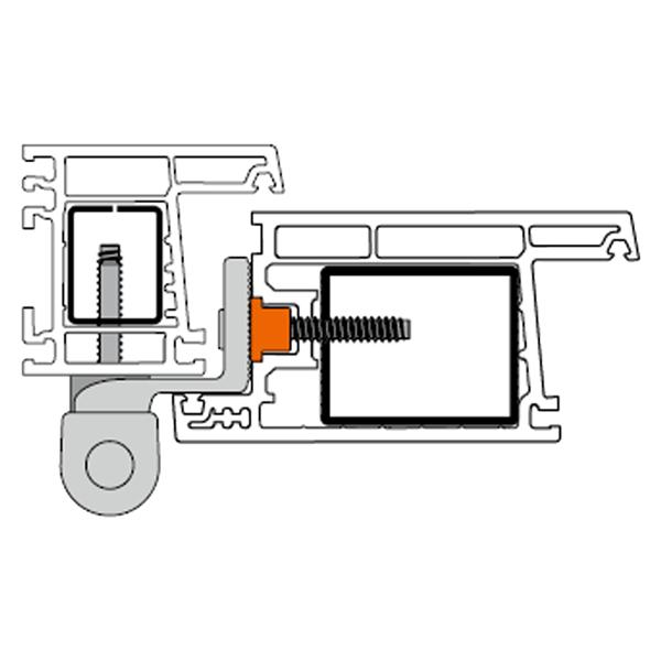 Cerniera per porte PVC KT-R a 3 ali Dr. Hahn Disegno-tecnico-montaggio