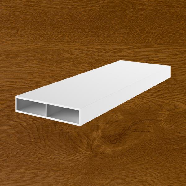 Profilo PVC scatolato piatto senza aletta golden oak