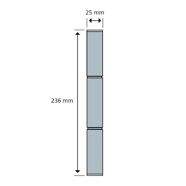 Cerniera per porte PVC KT-R a 3 ali Dr. Hahn completa disegno-tecnico