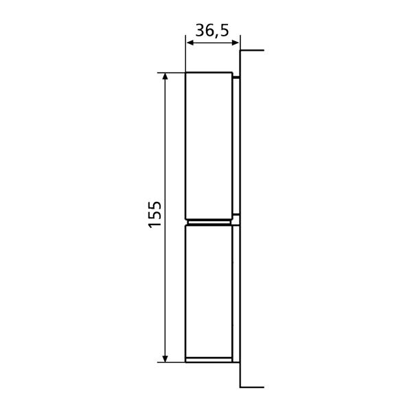 Cerniera per porte PVC a 2 ali KT-R Dr. Hahn disegno tecnico