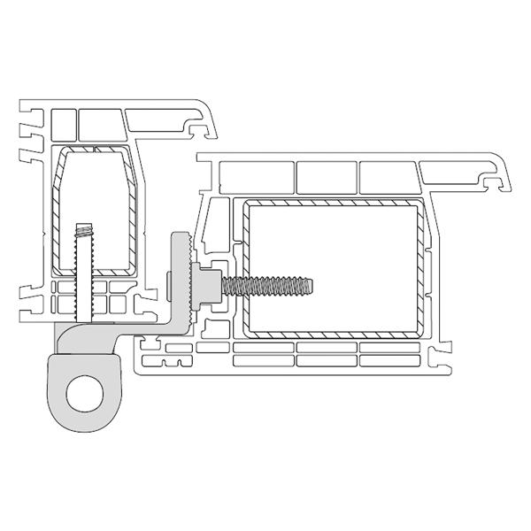 Cerniera per porte PVC a 2 ali KT-R Dr. Hahn montaggio su profilo