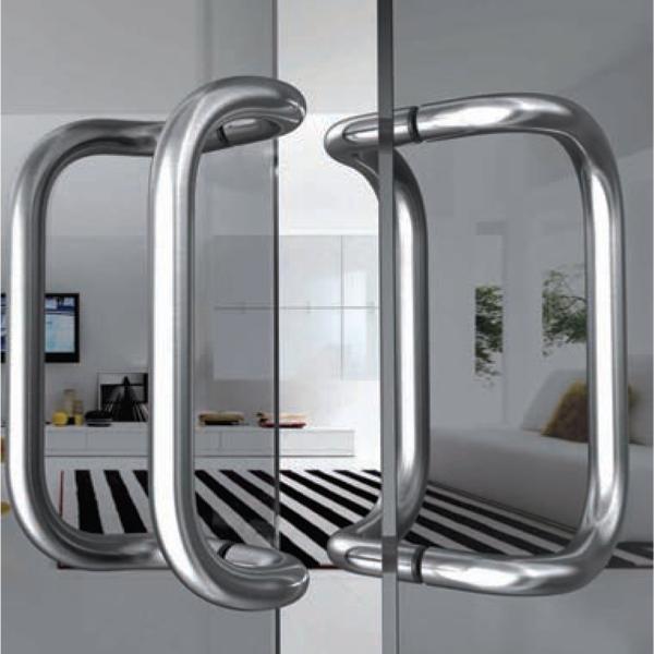 Maniglione per porta in acciaio inox satinato Serie 3B - Tropex Design