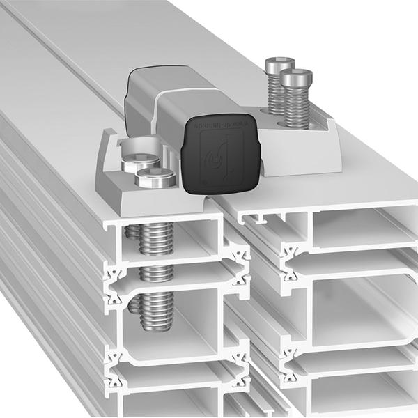 Cerniera per porte in alluminio a 2 ali