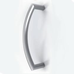 Maniglione per porta in acciaio inox satinao serie 3L Tropex Design
