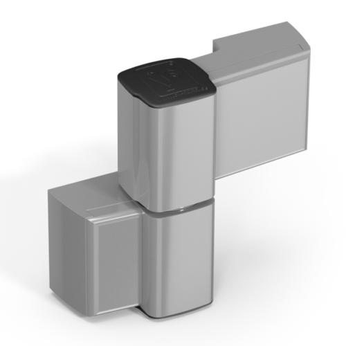 Cerniera per porte in alluminio a 2 ali Serie-60-grigia