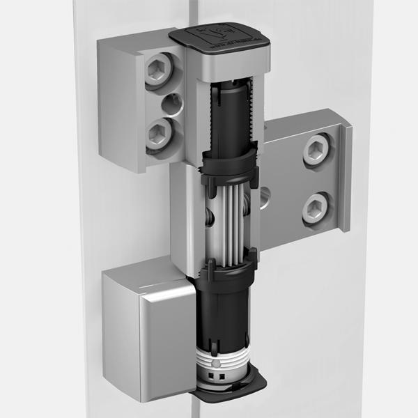 Cerniera per porte in alluminio universale a 3 ali dr hahn for Spranga universale per porte