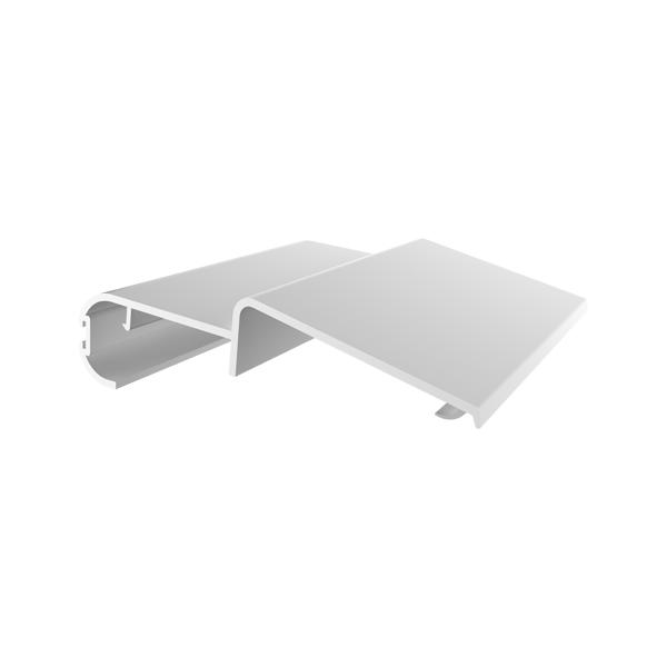 Profilo PVC battuta superiore/ferma pannello con guarnizione