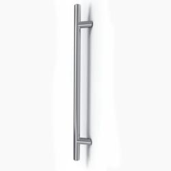 Maniglione per porta inclinato in acciaio inox satinato Serie Frankfurt