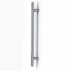 Maniglione per porta in acciaio inox satinato Serie Frankfurt - Tropex Design