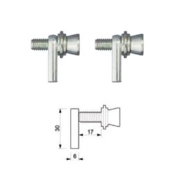 Kit fissaggio maniglione singolo per porte in alluminio monocamera - Tropex Design