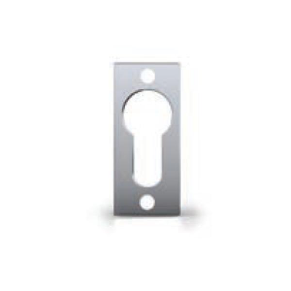 Bocchetta copricilindro foro Yale in acciaio Inox satinato - Tropex Design