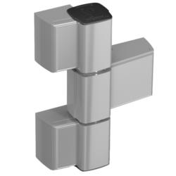Cerniera per porte in alluminio a 3 ali