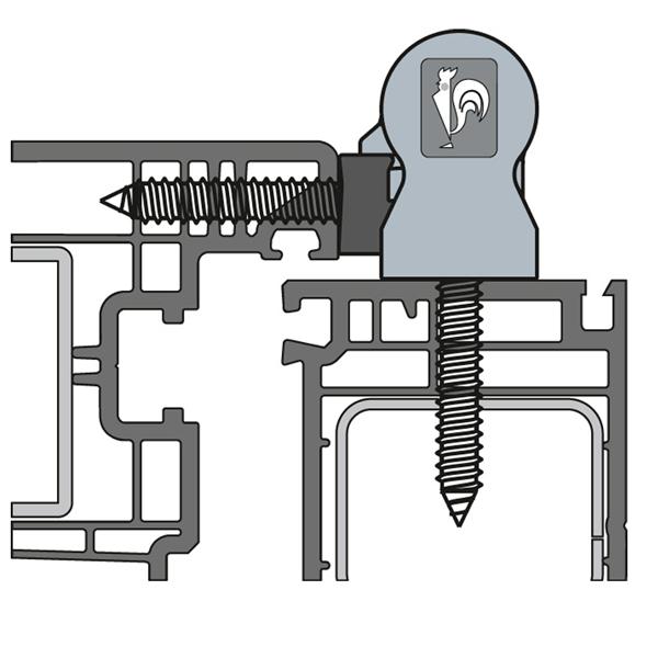Cerniera per porte PVC KTRN