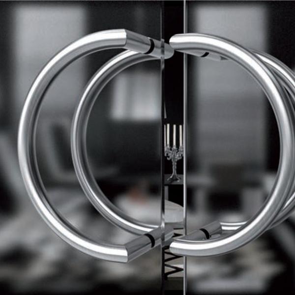 Maniglione per porta in acciaio inox satinato Serie 3F - Tropex Design