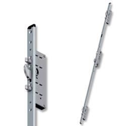 Serratura multipunto con gancio e 2 punzoni in acciaio per porte in Alluminio Multisafe 855GL Tipo11