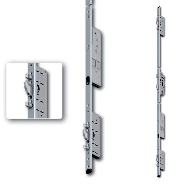 Serratura motorizzata multipunto per porte in PVC e Legno Multitronic 881
