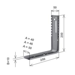 Parte verticale a squadro per mensola supporto tapparelle