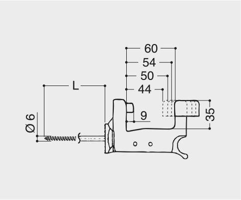 Fermapersiane automatico con ammortizzatore e vite da 70 mm SuperTop Grillo - Esinplast