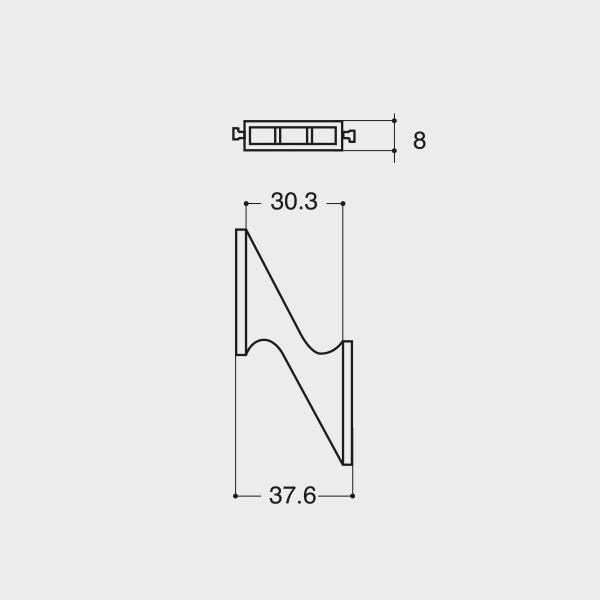 Sella reversibile persiana fissa per ovalina 50x10 mm - Esinplast