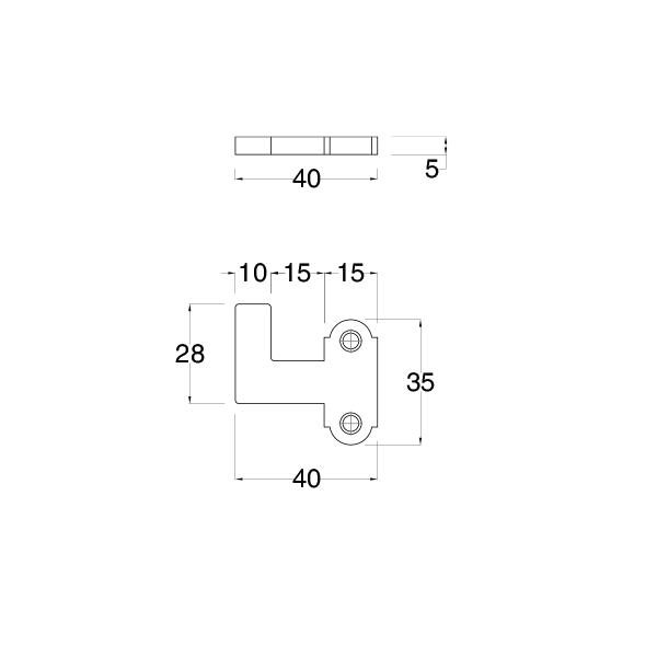 Spessore per griffa di chiusura per spagnoletta dx / sx S=5mm