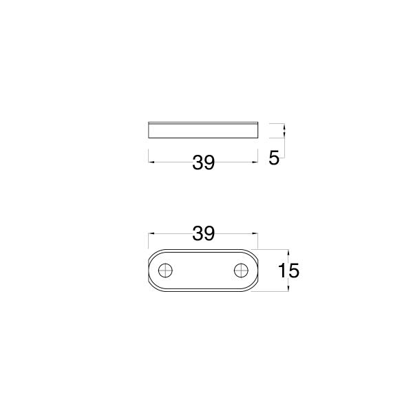 Spessore per terminale spagnoletta con uscita puntale S=5mm nero