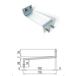Staffa di supporto per motore vasistas in alluminio per installazione.