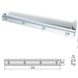 Staffa scorrevole di supporto per motore vasistas in alluminio - UCS