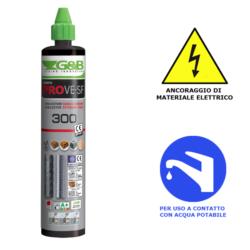 Ancorante chimico Certificato CE Opzione 1 Gebofix VE-SF 300 ml - G&B