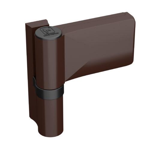 Cerniera universale per porte in PVC marrone scuro